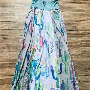 Dresses & Skirts - Brand new Watercolour Cactus print Maxi Skirt SM